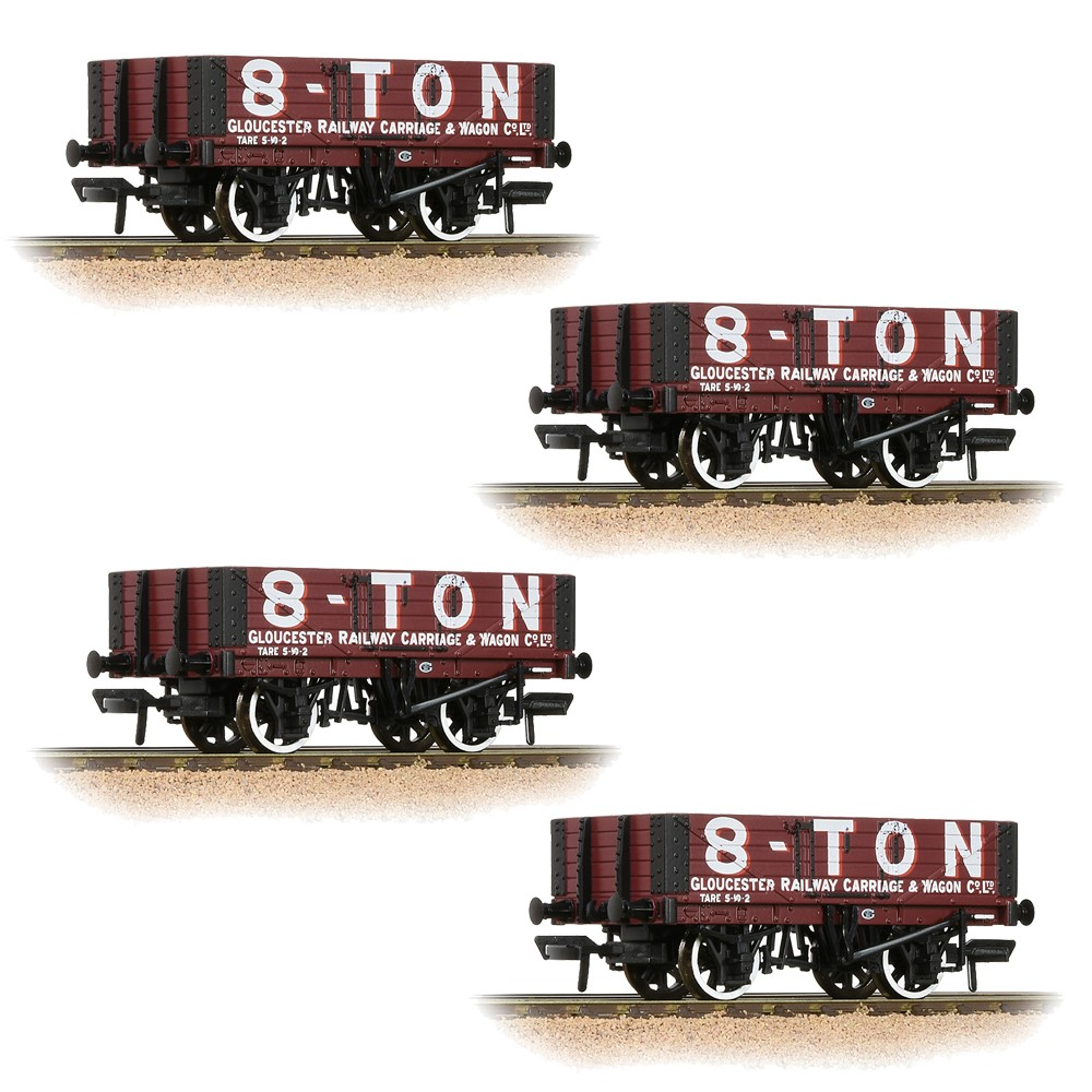 Pack of 4 37-2019K 5 plank open wagon in Gloucester Railway Carriage l