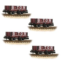 4 pack of 377-2019K 5 plank open wagon in Gloucester Railway Carriage