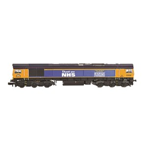 371-396K Graham Farish Pride of Britain Train Pack - N Scale Class 66 Side