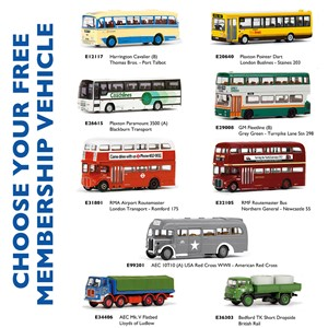 Bachmann Collectors Club EFE Membership FREE Bus Selection